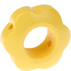 Houten bloemkraal pastelgeel  ''babyproof''
