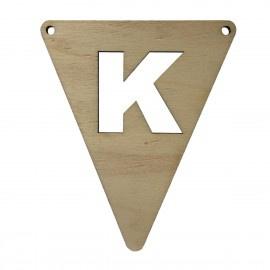 Houten vlagletter K