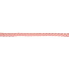 Gevlochten koord 10mm Vintage roze
