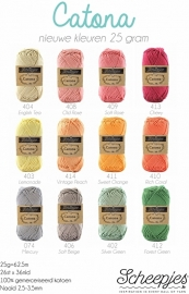 Scheepjes Catona alle 109 kleurtjes!