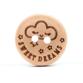 Durable Houten knopen: Sweet dreams 20mm -4 stuks-