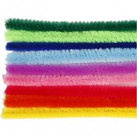 Chenilledraad 9 mm Gekleurde draad assortiment op=op