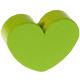 Houten kraal Mini-hart lichtgroen effen ''babyproof''