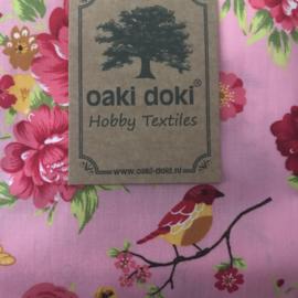 Oaki Doki  romantic stofje roze met grote bloemen