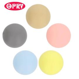 Opry Siliconen kralen 5 kralen van 12mm AST 1 - 5 kleuren
