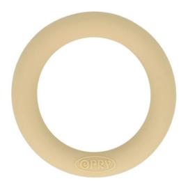 Opry siliconen bijtring  55mm kleur 886 Beigezand