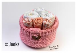 Mandje GROOT Rose Quartz garen en fournituren pakket