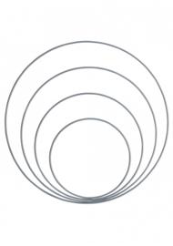 Go Handmade Metalen ringen set (4pc) kleur: Grey - Go Handmade