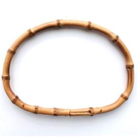 Tas handvat van bamboe ovaal per paar