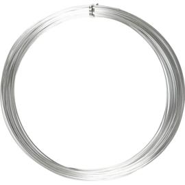 Alu draad - aluminium draad 1mm ZILVER