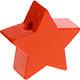 Houten kraal Mini-ster oranje effen ''babyproof''