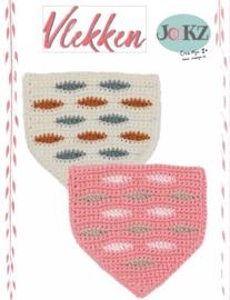 Vlaggetje of muurhanger vlekken roze variant