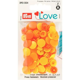 Color snaps -  Prym Love color rond 12,4mm lichtgeel, geel en oranje