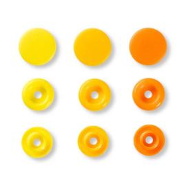 Color snaps -  Prym Love color rond 12,4mm lichtgeel, geel en oranje