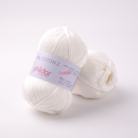 Phildar Coton 2 Blanc 0010