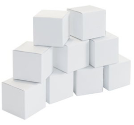Kartonnen doosje 6x6x6cm