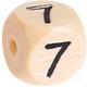 Houten Cijferkraal gegraveerd 10mm  - 7 -