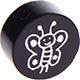 Houten kraal vlinder zwart ''babyproof''