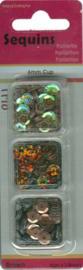 Trio doosje Pailletten bruin - 6mm