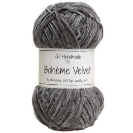 Go Handmade Bohème Velvet Fine - Dark grey- 17605
