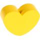 Houten kraal Mini-hart geel effen ''babyproof''