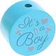 Houten kraal ''It's a Boy'' zeegroen ''babyproof''