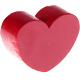 Houten kraal Mini-hart donkerrood effen ''babyproof''