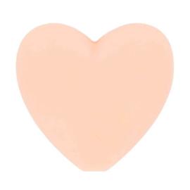 Opry siliconen kralen hartjes 5 stuks kleur 703