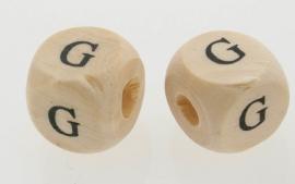 Letterkraal hout letter G
