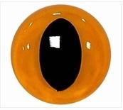 Kattenogen Geel/Oranje 12 mm