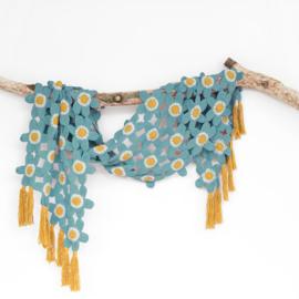 Tunesian Flower Shawl by Atty kleur 2134