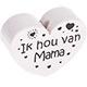 Houten kraal ''ik hou van mama''