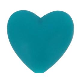 Opry siliconen kralen hartjes 5 stuks kleur 377