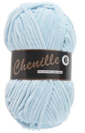 Chenille 6 -Lammy Yarns 011 Lichtblauw