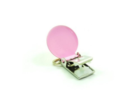 Speenclip rond Roze Pink 20mm