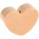 Houten kraal Mini-hart blank effen ''babyproof''