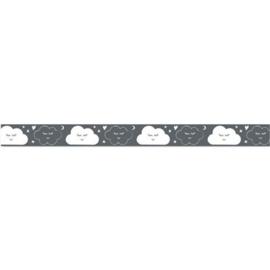Lint met wolken  Antraciet 15 mm