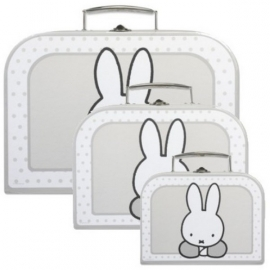 Koffertje Nijntje in grijs/wit