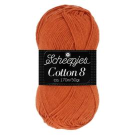 Cotton 8 Scheepjes 671 Roestbruin