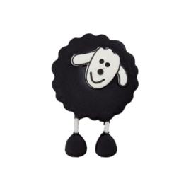 Knoop schaap met voetjes Zwart