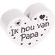 Houten kraal ''ik hou van papa''