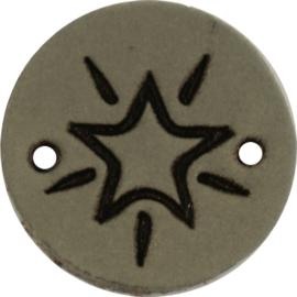 Durable Leren labels rond 2cm - Star per 2 stuks
