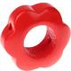 Houten bloemkraal rood  ''babyproof''