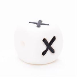 Siliconen letterkraal  - X