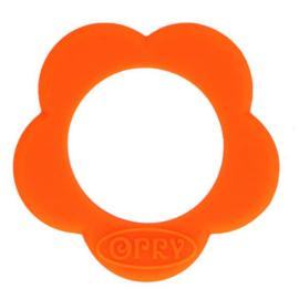 Opry siliconen Bloem bijtring  Oranje -  693