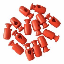 Koordstopper Rood 17mm 1 gaatje