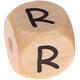 Houten Letterkraal gegraveerd 10mm   - R -