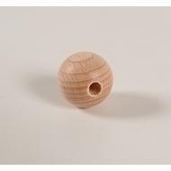 Blanke houten kraal 45 mm