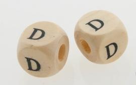 Letterkraal hout letter D