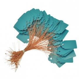 Prijslabeltje met koord 100 stuks blauwaqua